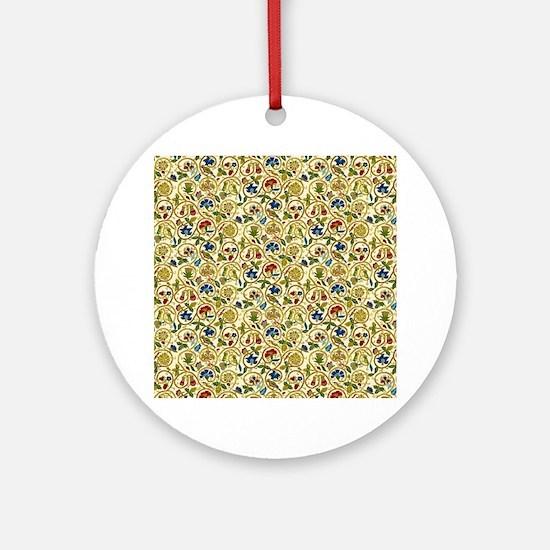 Elizabethan Swirl Embroidery Ornament (Round)