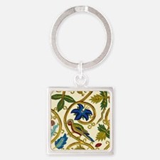 Elizabethan Swirl Embroidery Square Keychain