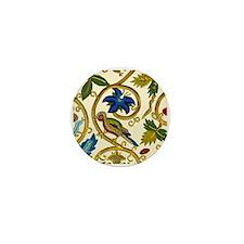 Elizabethan Swirl Embroidery Mini Button