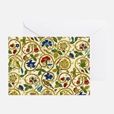 Elizabethan Swirl Embroidery Greeting Card