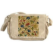 Elizabethan Swirl Embroidery Messenger Bag