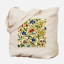 Elizabethan Swirl Embroidery Tote Bag