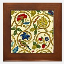 Elizabethan Swirl Embroidery Framed Tile