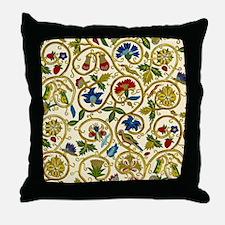 Elizabethan Swirl Embroidery Throw Pillow