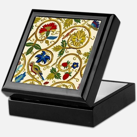 Elizabethan Swirl Embroidery Keepsake Box