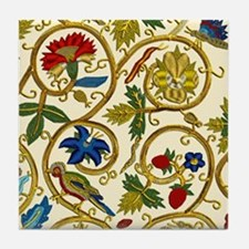 Elizabethan Swirl Embroidery Tile Coaster
