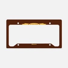 The Lords Prayer Wheat License Plate Holder