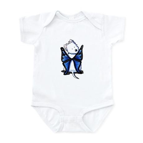 Blue Butterfly Westie Infant Bodysuit