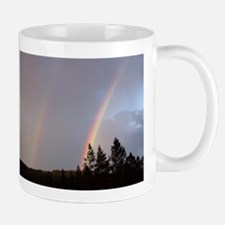 Double rainbow in Colorado Mug