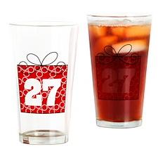 27th Birthday Mod Gift Drinking Glass