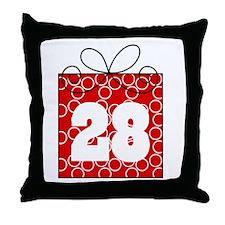 28th Birthday Mod Gift Throw Pillow