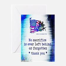 Military Sacrifice Greeting Card