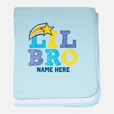 Add Name Lil Bro baby blanket