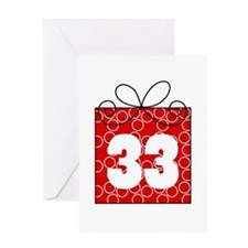 33rd Birthday Mod Gift Greeting Card