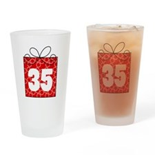 35th Birthday Mod Gift Drinking Glass