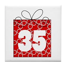 35th Birthday Mod Gift Tile Coaster