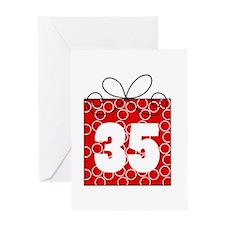 35th Birthday Mod Gift Greeting Card
