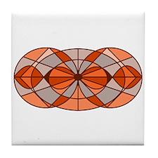 Burnt Orange Circles Tile Coaster