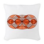 Burnt Orange Circles Woven Throw Pillow