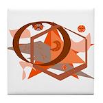 Burnt Orange Images Tile Coaster