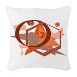 Burnt Orange Images Woven Throw Pillow