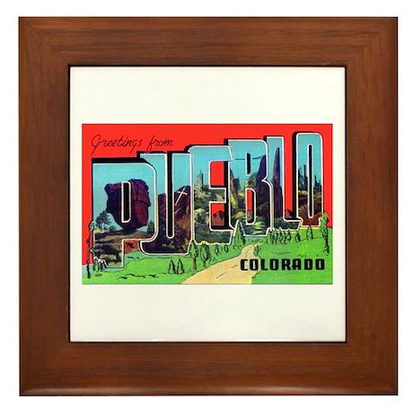 Pueblo Colorado Greetings Framed Tile