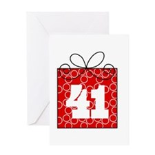 41st Birthday Mod Gift Greeting Card