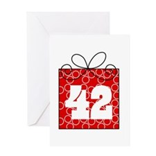 42nd Birthday Mod Gift Greeting Card