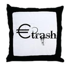 EuroTrash Grunge Throw Pillow