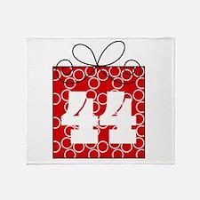 44th Birthday Mod Gift Throw Blanket