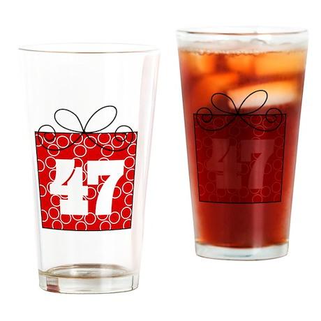 47th Birthday Mod Gift Drinking Glass