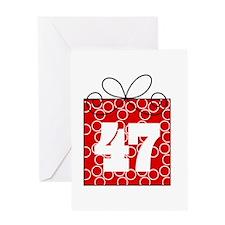 47th Birthday Mod Gift Greeting Card