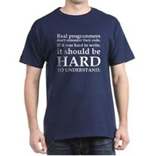 Real Programmers Navy Blue T-Shirt