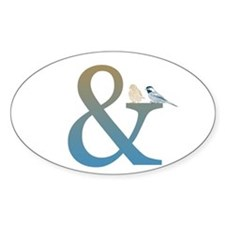 And Ampersand with Birds Decal