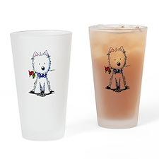 Westie Gent Drinking Glass