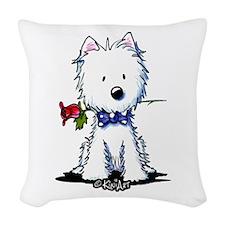 Westie Gent Woven Throw Pillow