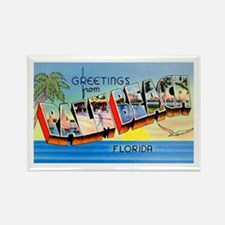 Palm Beach Florida Greetings Rectangle Magnet