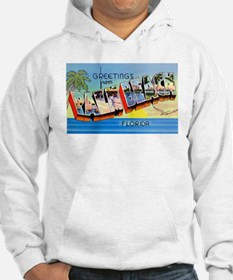 Palm Beach Florida Greetings (Front) Hoodie