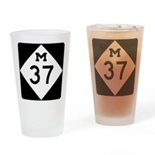 Highway M-37 Drinking Glass