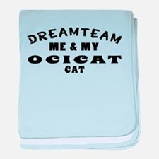 Ocicat Cat Designs baby blanket