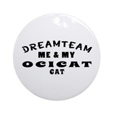 Ocicat Cat Designs Ornament (Round)