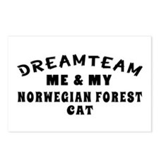 Norwegian Forest Cat Designs Postcards (Package of