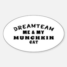 Munchkin Cat Designs Sticker (Oval)