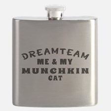 Munchkin Cat Designs Flask