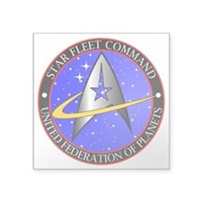 "Star Fleet Command Square Sticker 3"" x 3&quot"