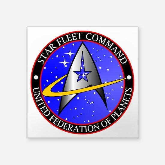 "Star Fleet Command Square Sticker 3"" x 3&quot"