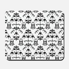 Black & White Damask #20 Mousepad