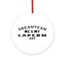 Laperm Cat Designs Ornament (Round)