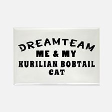 Kurilian Bobtail Cat Designs Rectangle Magnet