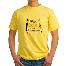 I Wear Gold 12 Granddaughter T-Shirt